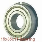 15 mm x 35 mm x 11 mm  NSK 6202VV deep groove ball bearings