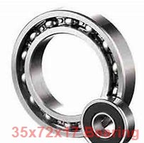 35 mm x 72 mm x 17 mm  NACHI 6207 deep groove ball bearings