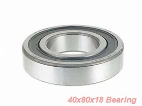 40 mm x 80 mm x 18 mm  ISB 6208-2RZ deep groove ball bearings