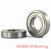 40 mm x 80 mm x 18 mm  SKF 6208-2ZNR deep groove ball bearings