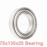 75 mm x 130 mm x 25 mm  NTN 7215DB angular contact ball bearings