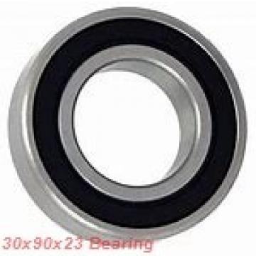 30 mm x 90 mm x 23 mm  KOYO 7406 angular contact ball bearings