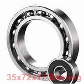 35 mm x 72 mm x 17 mm  KBC 6207UU deep groove ball bearings