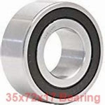 35 mm x 72 mm x 17 mm  KOYO 6207Z deep groove ball bearings