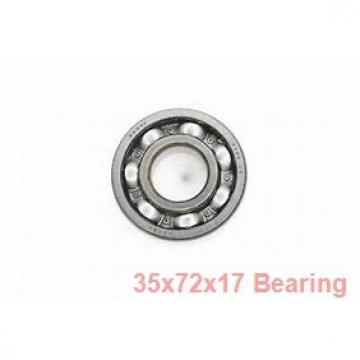 35 mm x 72 mm x 17 mm  ISB QJ 207 N2 M angular contact ball bearings