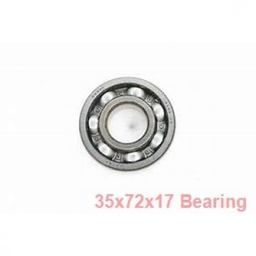 35 mm x 72 mm x 17 mm  NSK 6207NR deep groove ball bearings
