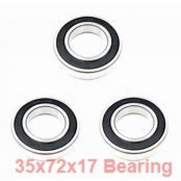 35 mm x 72 mm x 17 mm  SKF QJ207N2MA angular contact ball bearings