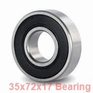 35 mm x 72 mm x 17 mm  NKE 6207 deep groove ball bearings