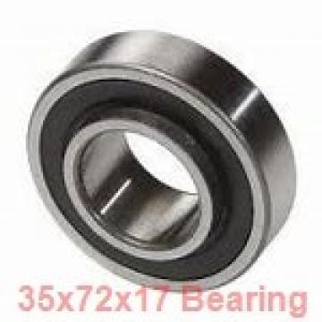 35 mm x 72 mm x 17 mm  ISO 6207 ZZ deep groove ball bearings