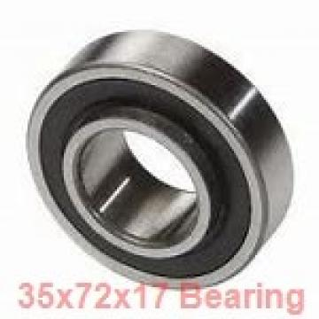 35 mm x 72 mm x 17 mm  NSK QJ207 angular contact ball bearings