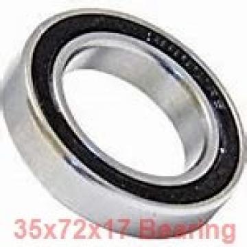 35 mm x 72 mm x 17 mm  FAG 6207 deep groove ball bearings
