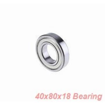 40 mm x 80 mm x 18 mm  ISO 1208K+H208 self aligning ball bearings