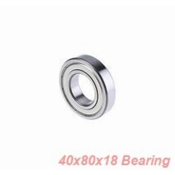 40 mm x 80 mm x 18 mm  ISO 6208 ZZ deep groove ball bearings