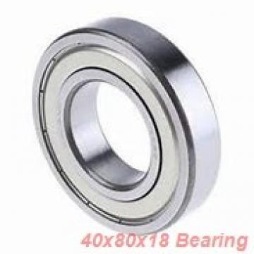 40 mm x 80 mm x 18 mm  KOYO 6208-2RD deep groove ball bearings