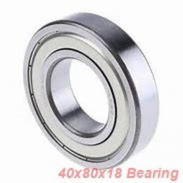 40 mm x 80 mm x 18 mm  SKF QJ208MA angular contact ball bearings