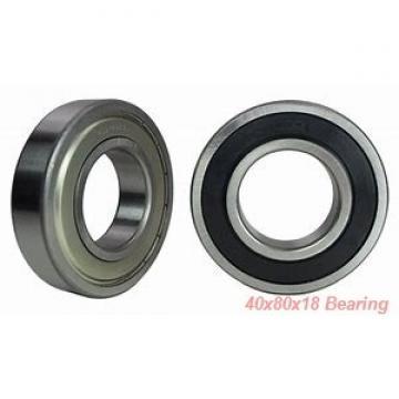 40 mm x 80 mm x 18 mm  SKF 7208BECBM angular contact ball bearings