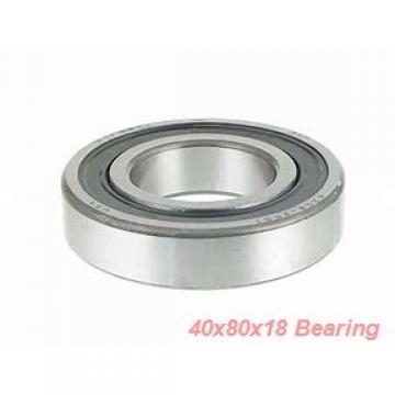 40 mm x 80 mm x 18 mm  ISO 6208 deep groove ball bearings