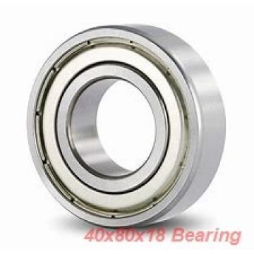 40 mm x 80 mm x 18 mm  ISO 1208 self aligning ball bearings