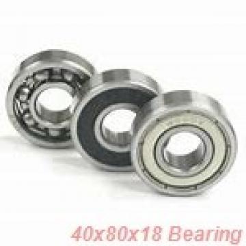 40,000 mm x 80,000 mm x 18,000 mm  SNR NJ208EG15 cylindrical roller bearings
