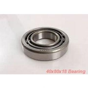 40 mm x 80 mm x 18 mm  ISO 1208K+H208 self aligning ball bearings