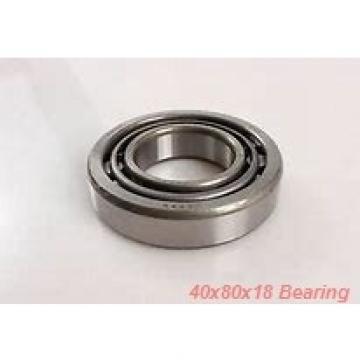 40 mm x 80 mm x 18 mm  NACHI 7208DB angular contact ball bearings