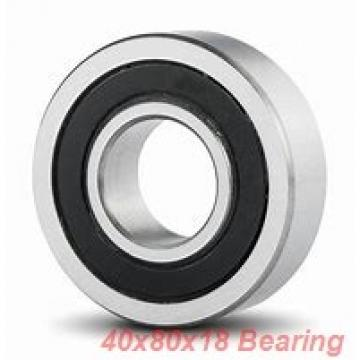 40 mm x 80 mm x 18 mm  KOYO 6208NR deep groove ball bearings