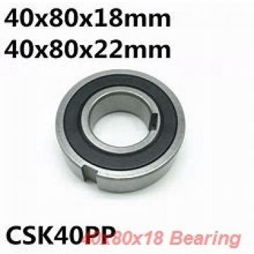 40 mm x 80 mm x 18 mm  ISO 7208 A angular contact ball bearings