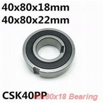40 mm x 80 mm x 18 mm  KOYO 7208B angular contact ball bearings