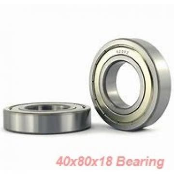 40 mm x 80 mm x 18 mm  ISO 7208 B angular contact ball bearings