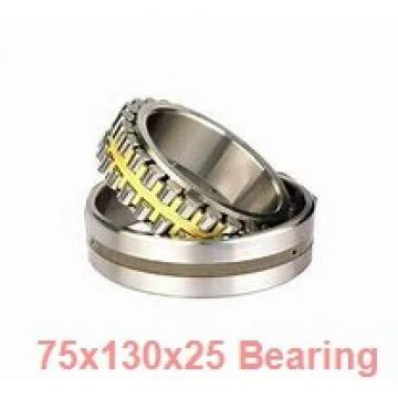 75 mm x 130 mm x 25 mm  NTN 7215BDB angular contact ball bearings