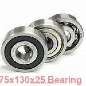75 mm x 130 mm x 25 mm  ISB QJ 215 N2 M angular contact ball bearings