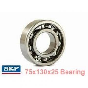 75 mm x 130 mm x 25 mm  SKF 7215BEP angular contact ball bearings