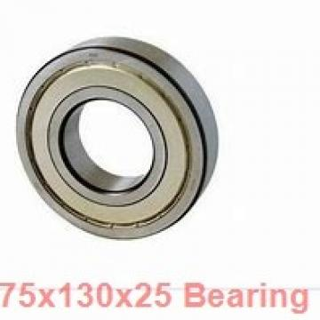 75 mm x 130 mm x 25 mm  ISO 7215 C angular contact ball bearings