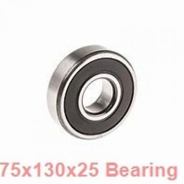 75 mm x 130 mm x 25 mm  NKE 6215-2Z-NR deep groove ball bearings