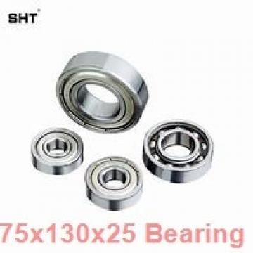 75 mm x 130 mm x 25 mm  ISO 6215 deep groove ball bearings