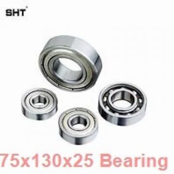 75 mm x 130 mm x 25 mm  ISO 7215 B angular contact ball bearings