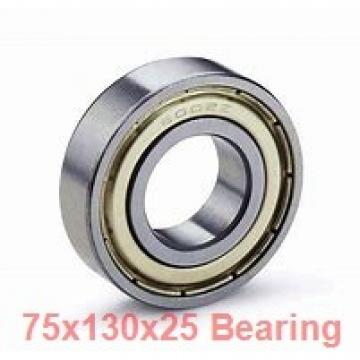 75 mm x 130 mm x 25 mm  ISB 6215-ZZ deep groove ball bearings