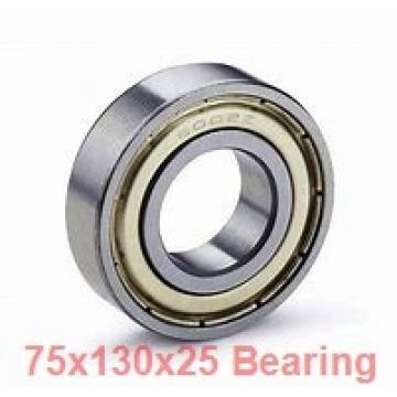 75 mm x 130 mm x 25 mm  SNR 7215CG1UJ74 angular contact ball bearings