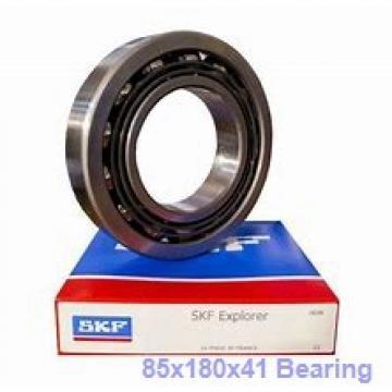 85 mm x 180 mm x 41 mm  NTN 7317DT angular contact ball bearings