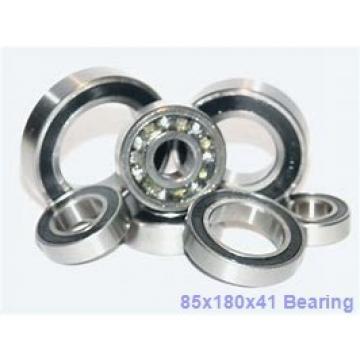 85 mm x 180 mm x 41 mm  NTN QJ317 angular contact ball bearings